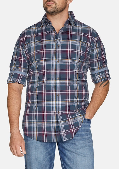 Navy Richmond Check Shirt