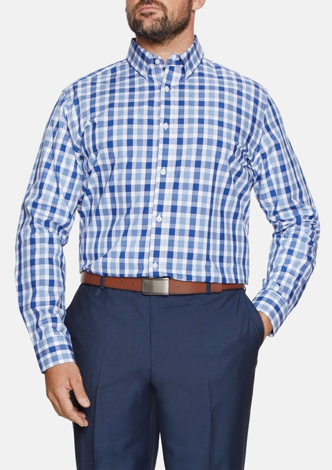 Blue Medium Check Shirt