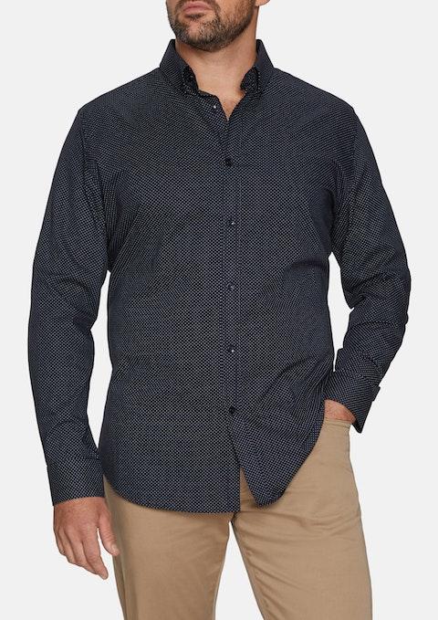 Navy Spot Print Shirt