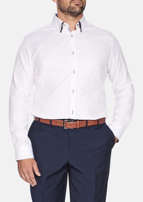 White Austin Textured Shirt
