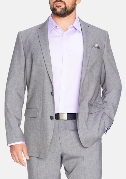 Grey Slater Stretch 2 Button Suit Jacket