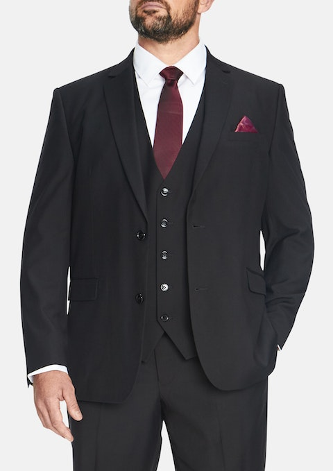 Black Essential 2 Button Suit Jacket