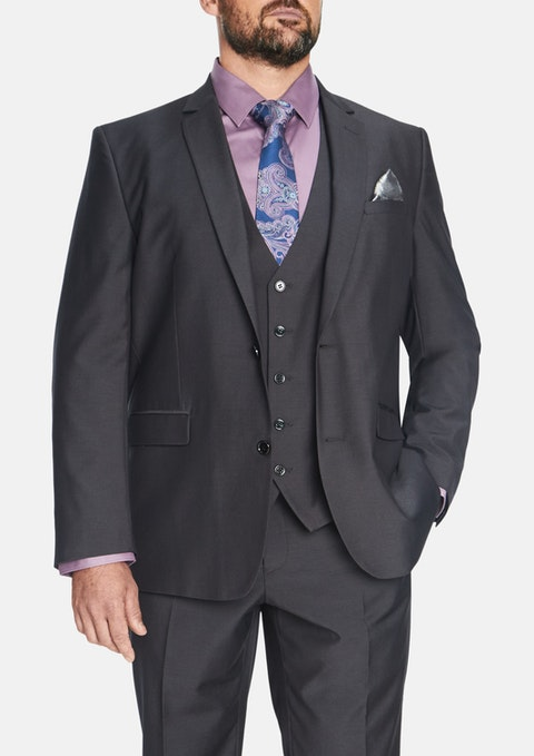 Charcoal Essential 2 Button Suit Jacket