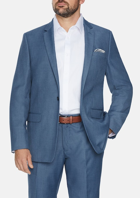 Slate Damon 1  Button Suit Jacket