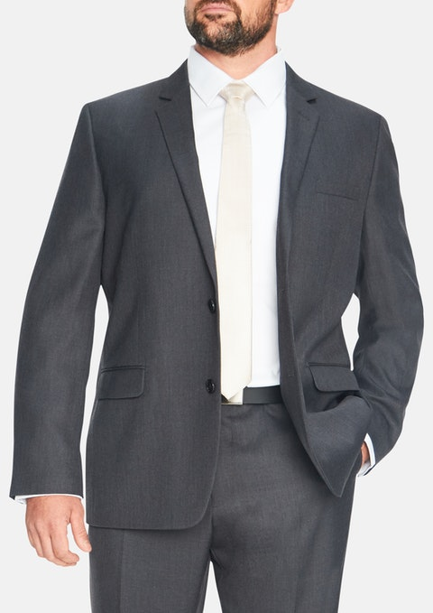 Charcoal Brooklyn 2 Button Suit Jacket