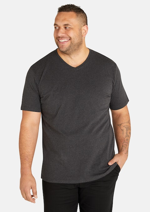 Charcoal Essential V Neck Tee