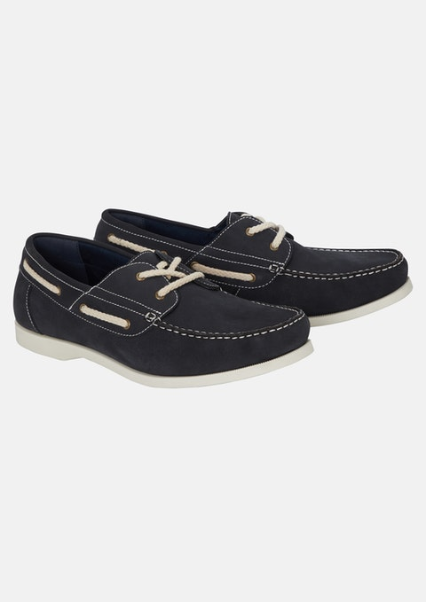 Nvy - Navy Knox Leather Boat Shoe