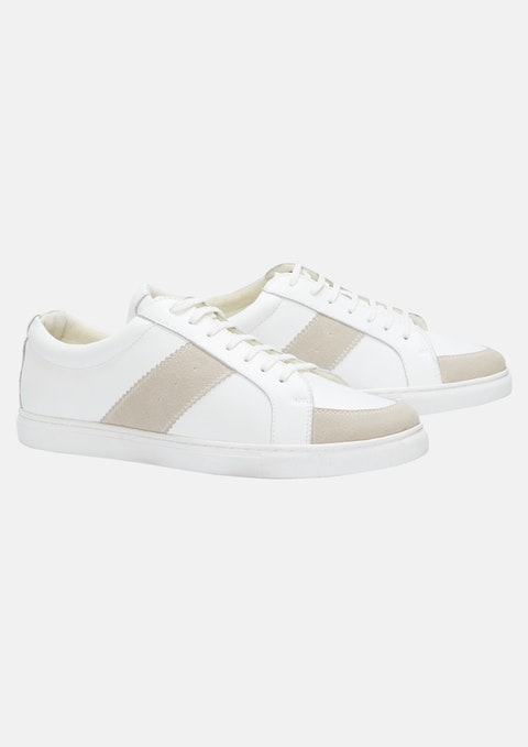 Wht - White Ace Leather Sneaker