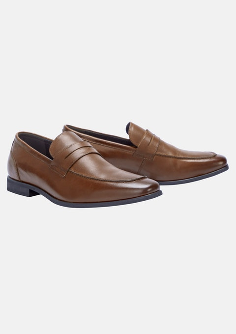 Tan - Tan Bowden Leather Loafer