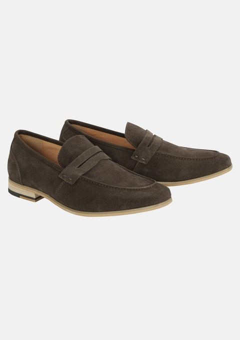 Brn - Brown Brent Suede Loafer