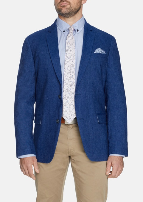 Blue Dion Stretch Linen Blazer