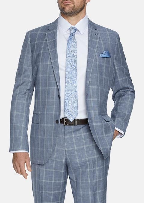 Sla - Slate Jagger Check 2b Suit Jacket
