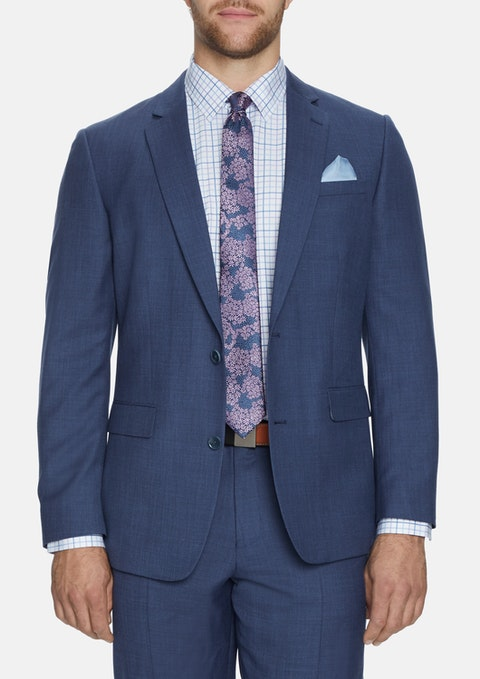 Blu - Blue Hamilton 2 Button Suit Jacket