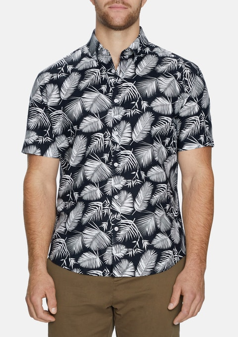 Ink - Ink Amsterdam Palm Print Shirt