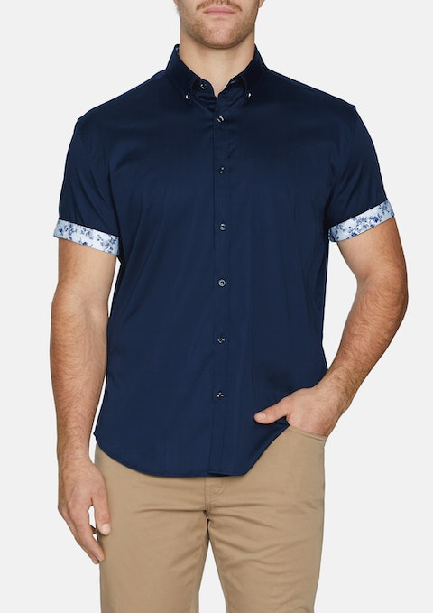 Navy Clarence Stretch Shirt