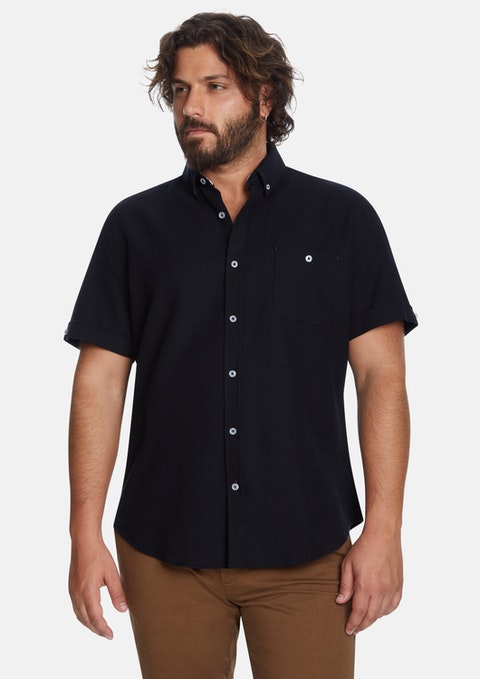 Black Rodney Textured Shirt