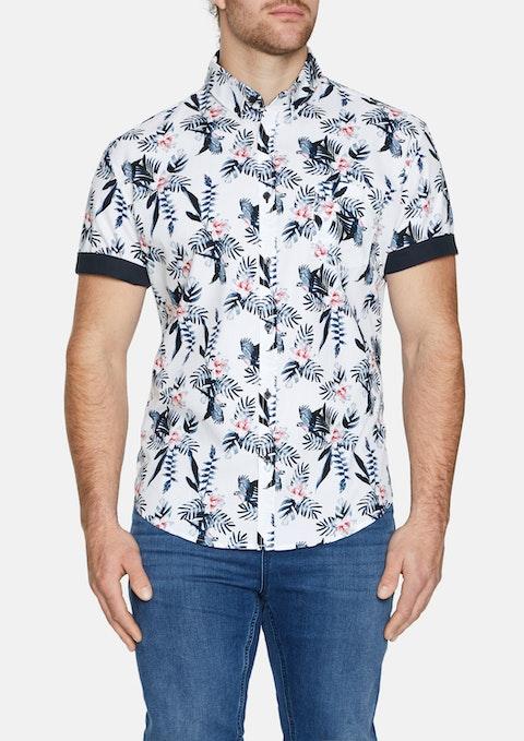White Jaffar Print Shirt
