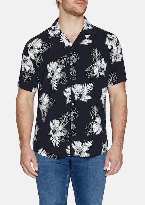 Black Maui Print Shirt