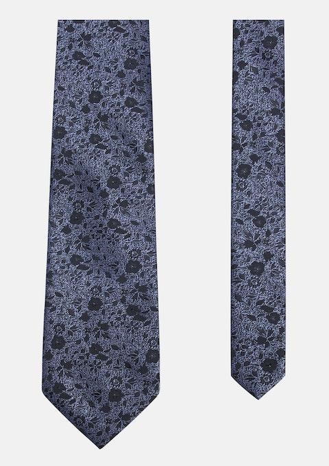 Charcoal Moore Jacquard Tie 8.5cm