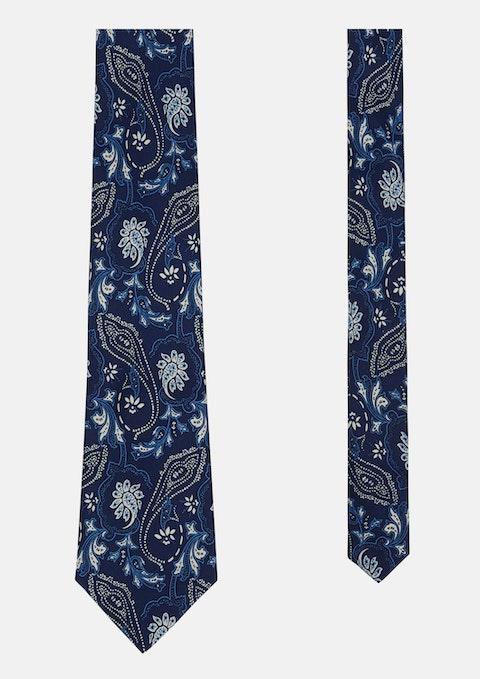 Navy Nolan Paisley Tie 8.5cm