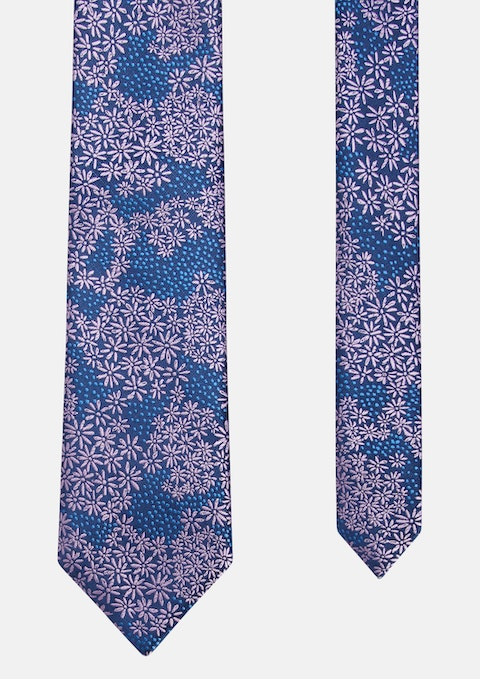 Pink Healy Floral Jacquard Tie 7cm