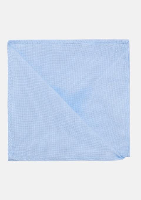 Blue Walsh Plain Pocket Square
