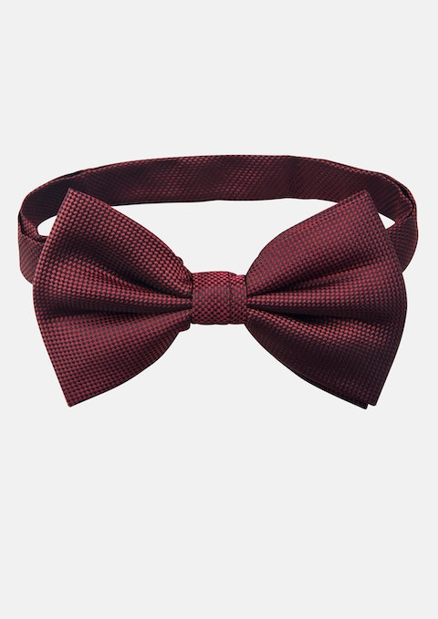 Burgundy Plain Bow Tie