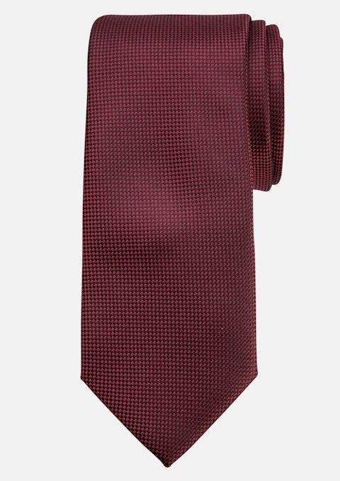 Burgundy Plain Tie 7cm Tall