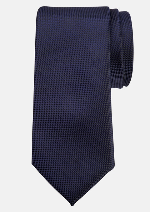 Navy Plain Tie 7cm Tall